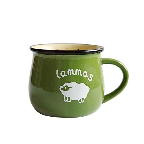 CHOOLD Large Ceramic Coffee Mug Cute cartoon animal Mug Tea Cup Jumbo Mugs Milk Mugs Soup Bowl with Handle for Couple Christmas Gifts 12oz