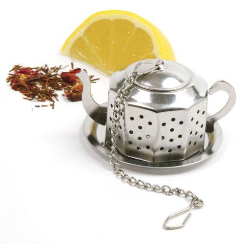 Norpro 5513 Stainless Steel Teapot Tea Infuser w Tray
