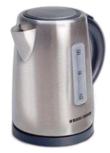 Black Decker KE2000SD17-Liter Cordless Kettle Silver