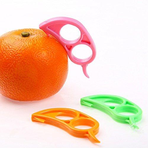 TMERY 5pcs Orange Opener Peeler Slicer Lemon Citrus Fruit Skin Remover - Random
