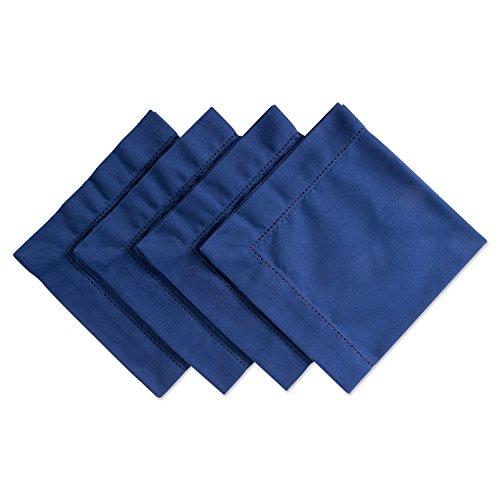 DII 100 Cotton Everyday Basic 18x18 Hemstitch Napkin Set of 4 Nautical Blue