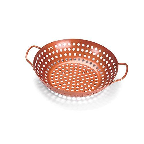 Outset QN70 Round Grill Wok Copper Non-Stick