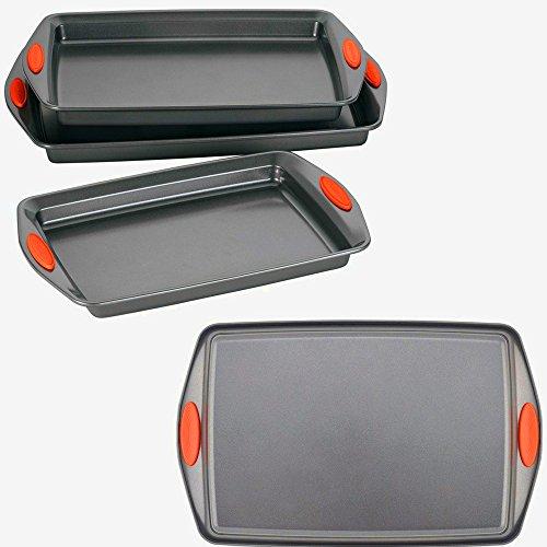 Carbon Steel Bakeware Set 3-Piece Oven Set Warp Resistant Nonstick Cookie Baking Pans Versatile Easy-To-Clean Wide Handles eBook by Easy&funDeals