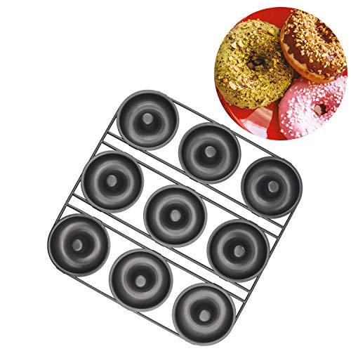 Chokxus Donut Pan 9-cavity Nonstick Donut Baking Pans for Homemade Cake Pan Donut Baking Tray Bagels Mold Carbon Steel Bakeware Tool