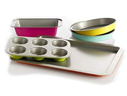 Color Splash Lyneham 5 Piece Carbon Steel Bakeware Set Gray Pack of 2