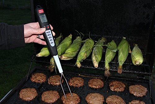 Helencasa Digital Meat Thermometer ~ Instant Probe Read ~ 5 Selectable Preset BBQCooking Programs