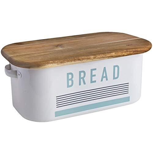 Jamie Oliver JB8901 Elegant Bread Bin WhiteBrown