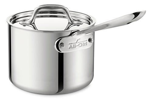 All-Clad 4202 Stainless Steel Sauce Pan with Lid Cookware 2-Quart Silver