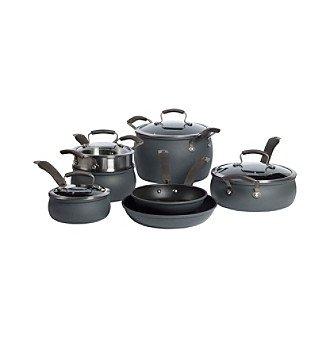 Epicurious 11-pc Hard-Anodized Nonstick Aluminum Cookware Set