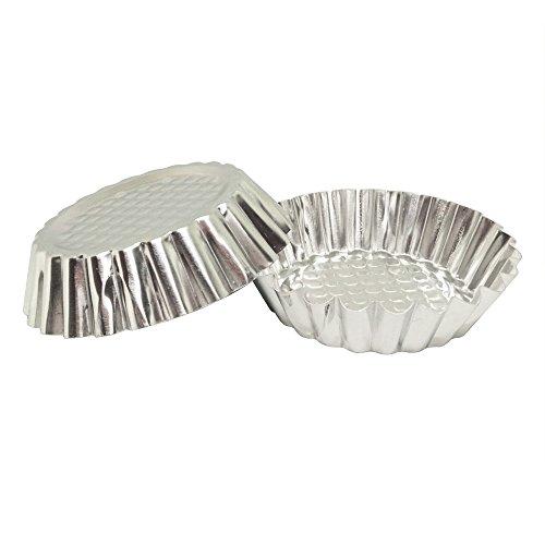 Set of 30 MYStar 3-34 Fluted Design Round Shape Non-stick Aluminum Tart Mold Mini Pie Tin Tartlet Pan