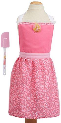 DISNEY Kids Apron Kitchen Baking Set Princess PinkWhite