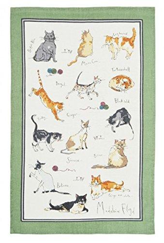 Ulster Weavers Madeleine Floyd Cats Linen Tea Towel