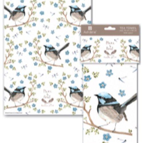 Kitchen Dish Tea Towel Ashdene Plume and Perch Bird Collection