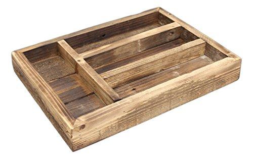 Park Hill 14 x 10 Rustic Reclaimed Wood Silverware Tray
