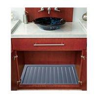 Rev-A-Shelf Vanity Sink Base Drip Tray Organizers Metallic Silver