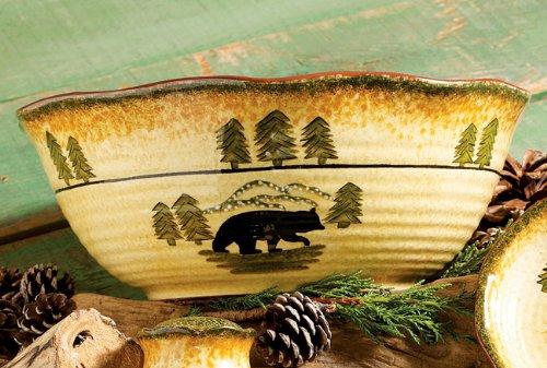 Black Bear Serving Cabin Serving Bowl - Wilderness Dining Tableware