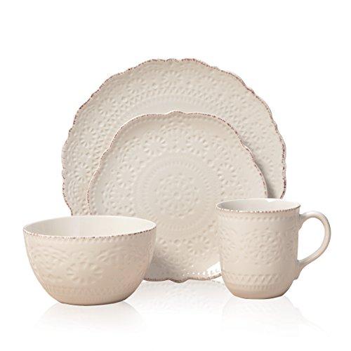 Pfaltzgraff Chateau Cream 16-Piece Stoneware Dinnerware Set Service For 4