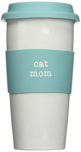 Pavilion Gift Company 14125 Cat Mom Ceramic Travel Mug 15-Ounce Mom Love