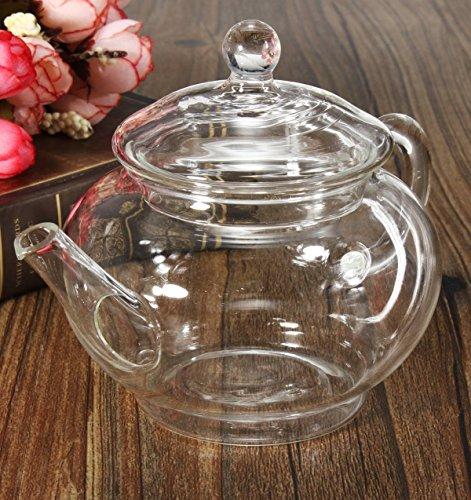 KINGSO Heat Resistant Elegant Glass Teapot with Glass Filter 250ml  8oz