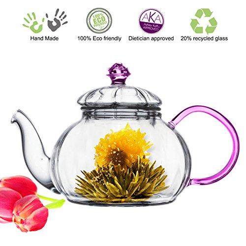 Tea Beyond Heat resistant Glass Teapot Juliet 20-Ounce