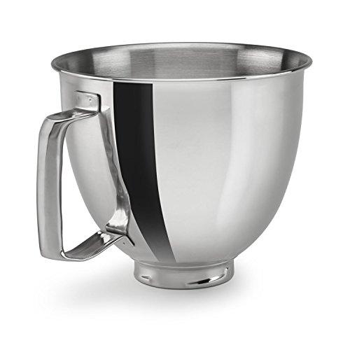 KitchenAid KSM35SSFP Polished Stainless Steel Bowl with Handle Metallic