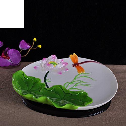 Ceramic PlateCreative Fruit BowlSnack PlateDried Fruit Tray-A