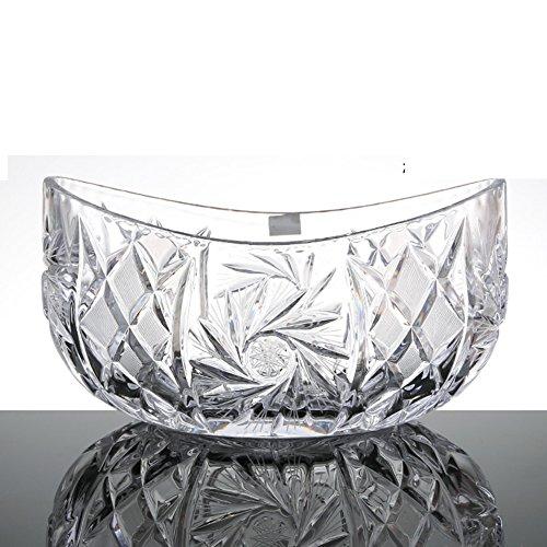 Crystal glass fruit bowlLiving room Continental fruit creative fruit bowl-B