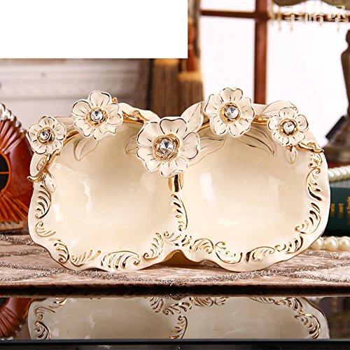 European Ceramic BowlsLiving Room Decoration OrnamentsCreative Fruit Bowl-F