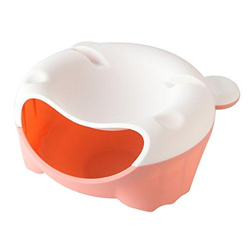 Lazy Two-tier SeedsPlastic FruitCreative Fruit BowlCandy Plate-E