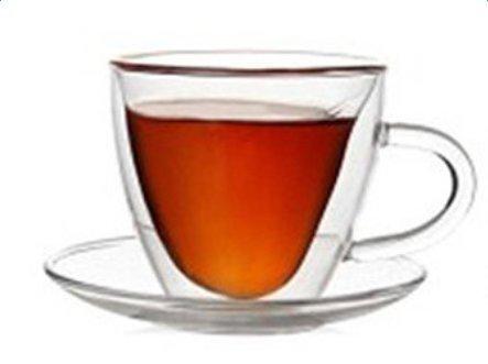 Double Wall Heart Tea CupJoyStreet Creative Mug Coffee Milk Juice Double Glass Cup Birthday Valentines Day Gift 180ml