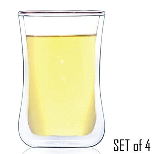 Taurus Double Wall Glass Tea Coffee Espresso Cup Glasses - 230ml  80 fl oz 4