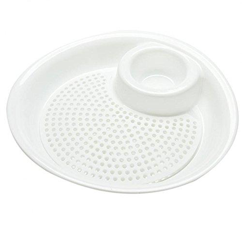 Ioffersuper Dumplings Dish with Vinegar Plastic Fruit Bowl Plate Drain Dish