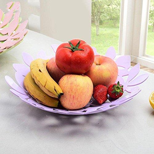 ZWC Fashion creative fruit plate fruit plate plastic fruit bowl candy dish fruit baskets living room shelving  light purple