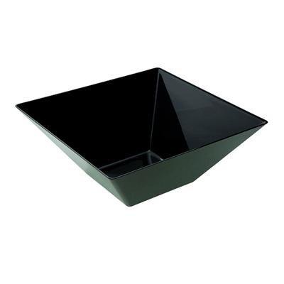 Medium Square Black Plastic BowlsCase of 50