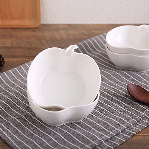 BIG BIG SALE FOR HOLIDAYSOLECASA 8OZSet of 4 PorcelainCeramic Utility Sauce Dipping DishesSmall Sauce BowlSide Dish PlateCanape Plate