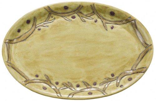 Mara Ceramic Stoneware 16 Inch Grape Vines Large Oval Serving Platter