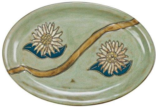 Mara Ceramic Stoneware 16 Inch Sunflower Large Oval Serving Platter