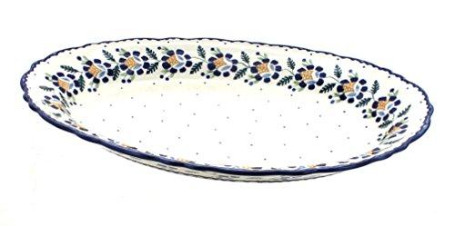 Polish Pottery Sunflower Large Oval Serving Platter