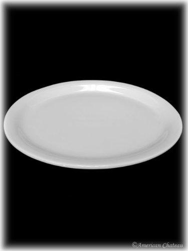 Large 11 Oval White Porcelain Serving Platter With Rim