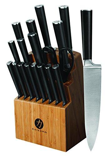 Ginsu 07133 19-Piece Chikara Signature Series Cutlery Block Knife Set