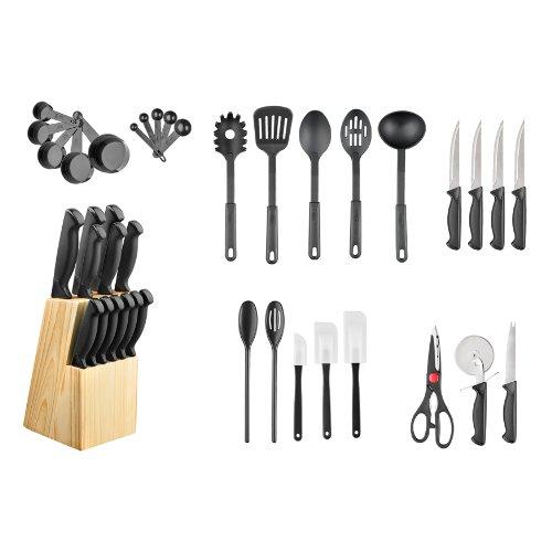 Hampton Forge 40-Piece Cutlery Knife Block Set HMC01B175L