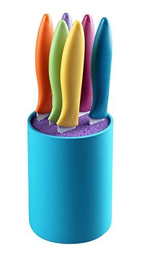 Ragalta RCK-233 7 Piece Non-Stick Cutlery Block Set in Universal Block Multicolor