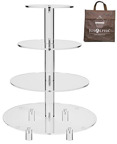 4 Tier Round Wedding Acrylic Cupcake Stand Tree Tower Cup Cake Display4TR 4 Tier Tall version