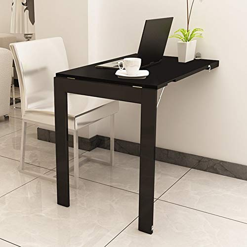 QQXX Computer Table Folding Wall Mounted deciduous Table Dining Table Laptop Desktop Folding Photo Frame Household Solid Wood Strip 9060cm Breakfast Tray Table Wood