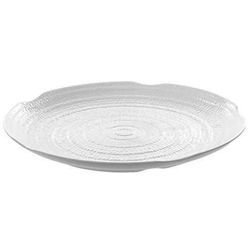 Carlisle Terra Round White Melamine Platter - 18Dia x 1 34H