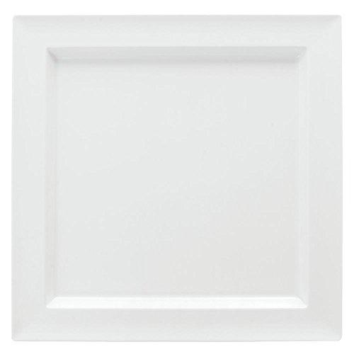 Dalebrook Low-Profile Square White Melamine Platter - 14 34L x 14 34w x 1H