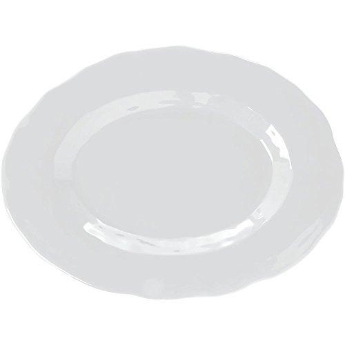 Elite Tuscany II Collection Oval White Melamine Platter - 17 12L x 13W x 1 12H