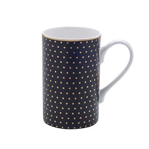 Mikasa Bone China Coffee Mug 16-Ounce Dots BlackGold