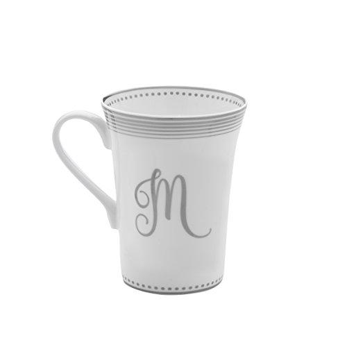 Mikasa Bone China Coffee Mug 16-Ounce Monogram M