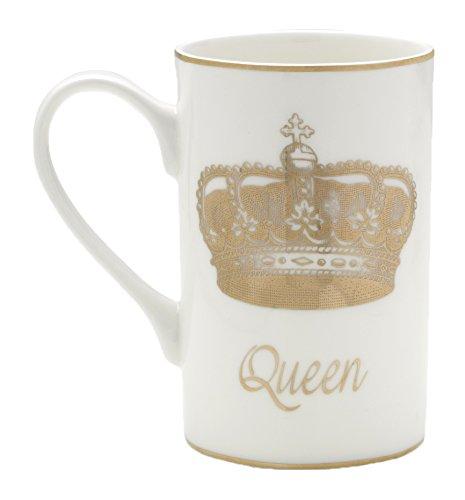 Mikasa Bone China Coffee Mug 16-Ounce Queen WhiteGold